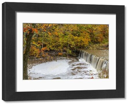 Anderson Falls on Fall Fork of Clifty Creek in autumn near Newbern, Indiana, USA