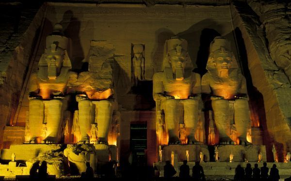 AF, Egypt, Abu Simbel. Colossal Figures of Ramesses II, Great Temple of Ramessess II