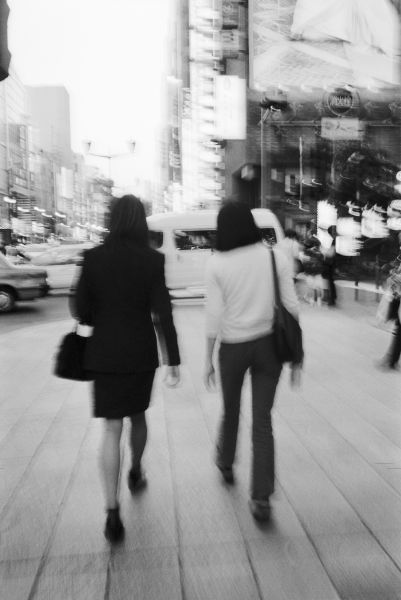 Asia, Japan, Tokyo. Young women on the Ginza