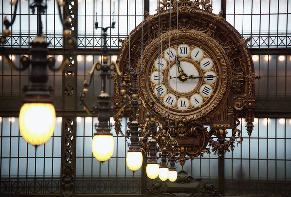 France, Paris, The clock in the main exhibition hall of Musee d'Orsay(Orsay Museum)