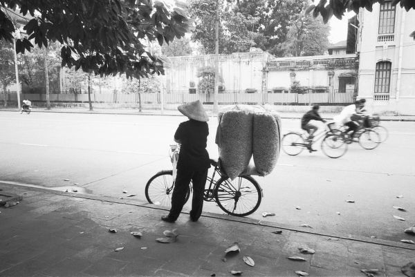 Hanoi Vietnam, Bicyle Delivery Woman (NR)