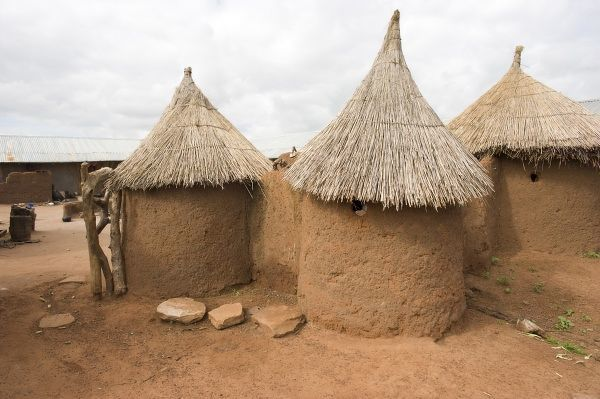 Homes, Bowku Village, Ghana, Africa. (NGO Restrictions May Apply)