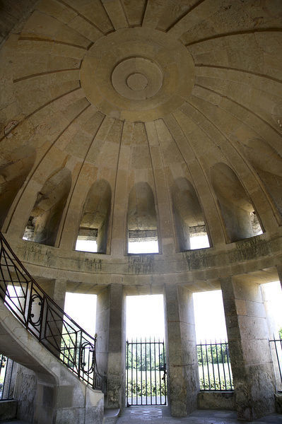 The interior view of Pagode de Chanteloup. Amboise. Loire Valley. France