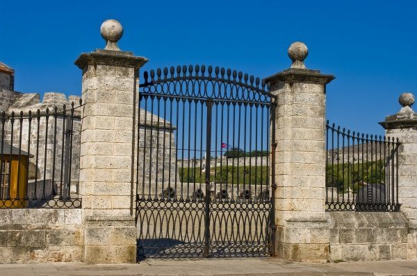 Main gate of Castillo de la Real Fuerza guarding Havana Harbor, Cuba
