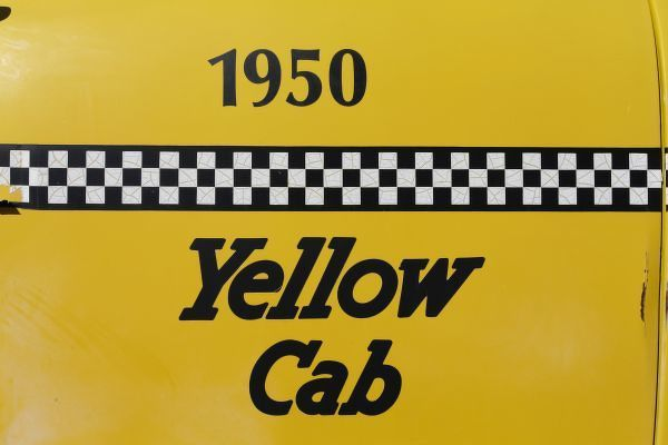 Santa Rosa, New Mexico,United States. Old Yello Cab taxi on Route 66