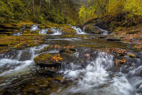 USA, West Virginia, Delaware Watergap Recreational Area. Landscape of Dingmans Falls cascades. Credit as: Jay O'Brien / Jaynes Gallery / DanitaDelimont
