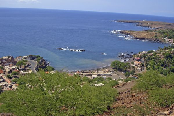 View from the road on Cidade Velha, Santiago Island, Cabo Verde
