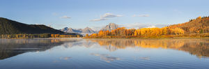 67545-08902 Sunrise at Oxbow Bend in fall, Grand Teton National Park, WY