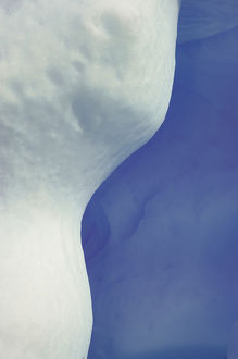 Abstract, Blue, White, Ice
