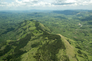 Aerial landscape in south western Uganda