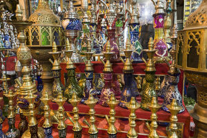 africa/egypt/africa egypt cairo colorful display waterpipes