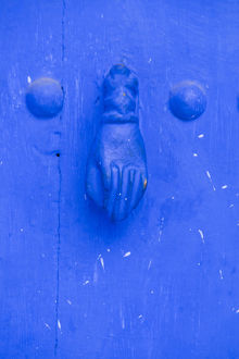 Africa,North Africa,Morocco, Chefchaouen or Chaouen, Traditional door knocker