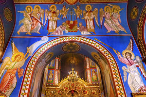 Ancient Mosaics Golden Sreen Icons Basilica Saint Michael Monastery Cathedral Kiev Ukraine