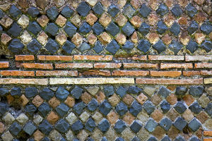 europe/italy/ancient roman stone wall background ostia antica