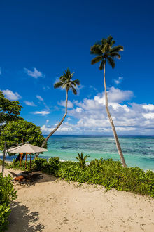 Anse Forbons beach at the Hilton DoubleTree Resort and Spa, Mahe, Republic of Seychelles