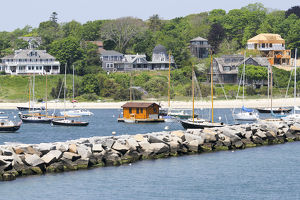 Approching the shores of Martha's Vineyard, Vineyard Haven, Massachusetts, United