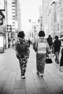 Asia, Japan, Tokyo. Geishas on the Ginza