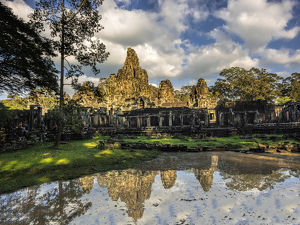 Asia;Cambodia;Angkor Watt;Siem Reap;Sunrise reflections at Angkor Wat