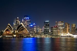 australia sydney skyline opera house seen embarkation