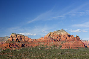 AZ, Sedona, Red Rock Country, Twin Buttes and The Nuns