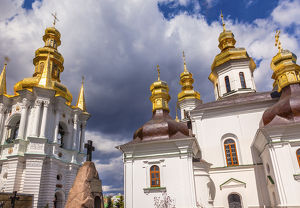 Bell Tower Far Caves Church Birth Blessed Virgin Holy Assumption Pechrsk Lavra Cathedra
