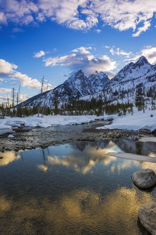 Clearing storm over the Tetons from Cottonwood Creek, Grand Teton National Park
