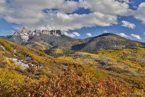 Colorado Autumn time just east of Ridgway viewing the Mountains of the Rio Grande