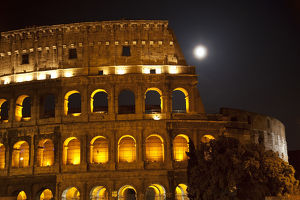 europe/italy/colosseum large moon details rome italy built