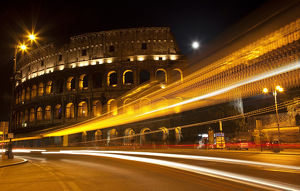 europe/italy/colosseum modern street abstract night moon time