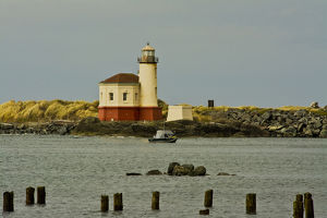 Coquille River Lighthouse, Coquille River, Bandon by the Sea, Oregon, USA