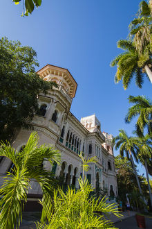 Cuba. Cienfuegos. Palacio de Valle, built in 1919 in an ornate Moroccan style, was
