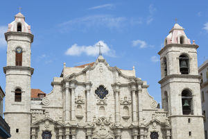Cuba, Havana. The Roman Catholic church's Cathedral in Old Town
