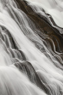 Details of Gibbon Falls, Gibbon River, Yellowstone National Park, Montana/Wyoming
