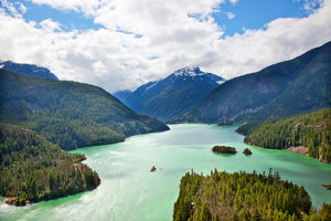 Diablo Lake Boat North Cascades National Park Washington Pacific Northwest