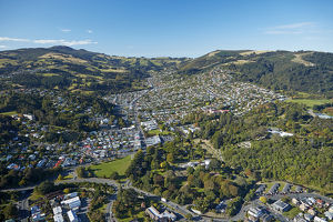 Dunedin Botanic Garden, and North East Valley, Dunedin, South Island, New Zealand