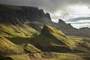 Early light on The Quiraing, Isle of Skye, Scotland, United Kingdom