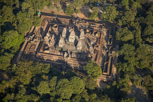 East Mebon temple ruins (dating from 953), Angkor World Heritage Site, Siem Reap