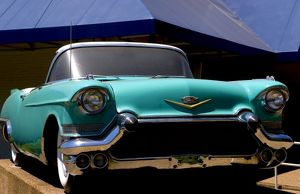 Elvis Presley's Green Cadillac Convertible in Graceland in Memphis,Tennessee, USA