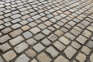 Europe, Germany, Dresden. Close-up up cobblestones