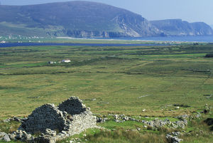 Europe, Ireland, County Mayo, Achill Island. Ancient Village
