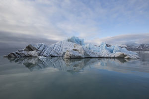 Europe, Norway, Svalbard. Drifting ice from Monaco Glacier