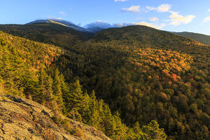 Fall foliage on Mount Madision in New Hampshire's White Mountain National Forest