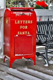 places/fresh snow red mailbox letters santa town