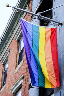 Gay Pride flag, New York City, New York. USA