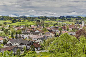 Germany, Andechs, View of Andechs from Andechs Monastery