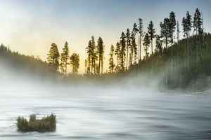 Gibbon River at sunrise, Yellowstone National Park, Wyoming/Montana