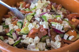 europe/greece/greek salad touris club olympia greece europe