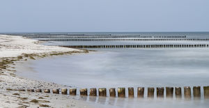 Groynes are protecting the coast outside the full protected Wilderness Area in the
