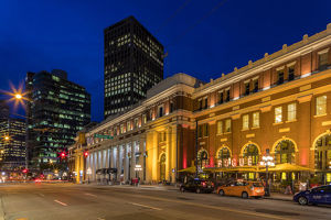 canada/historic canadian pacific railway building duskin
