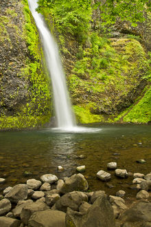 Horsetail Falls, Columbia Gorge, Oregon, USA, waterfall, scenic, landscape, nobody